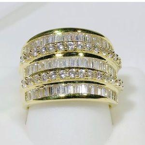 18k Gold Filled CZ Engagement Wedding Ring